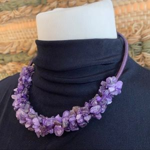 🎉5/20 SALE🎉 purple stone rope cluster necklace